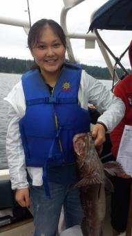 ling cod caught in Nanaimo waters